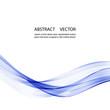 Abstract blue wave vector background for brochure, website, flyer design. Blue smoke wave.