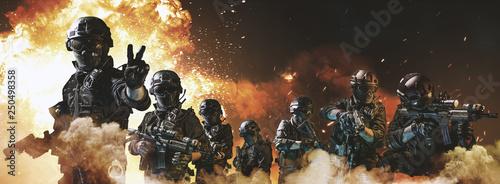 Fotomural special forces soldier police, swat team member
