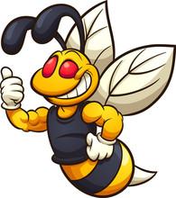 Happy Hornet, Wasp, Or Bee Mas...
