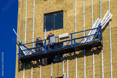 Fotografie, Obraz  Facing the building with a ventilated facade