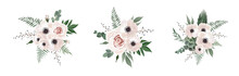 Vector Floral Bouquet Design A...