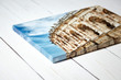 canvas print picture - Canvas print. Photo with gallery wrap method of canvas stretching on stretcher bar. Photography with image of the ancient Roman amphitheatre in Nimes city, France