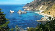 Big Sur Coastline Looking North At Julia Pfeiffer Burns State Park On The California Coast In Big Sur