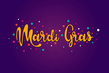 Mardi Gras Lettering Text Vect...