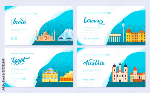 Fotografía  Travel information brochure card set
