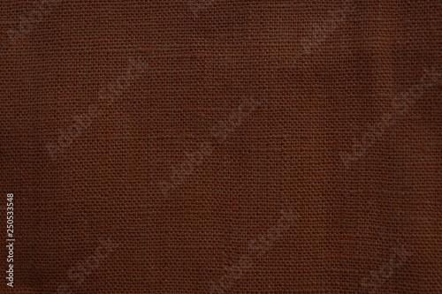 Fotobehang Stof Brown linen fabric texture background.