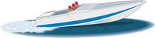 Racing Boat Vector Illustration