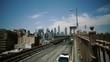 Brooklyn Bridge, Blurry move cars cars, move camera New York City, New York