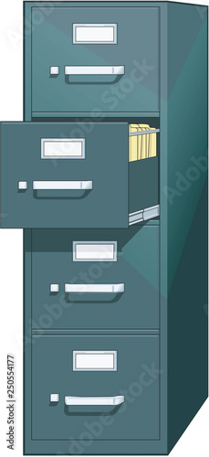 Fotomural Filing Cabinet Vector Illustration