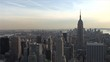 Top view at magic hour of New York United States