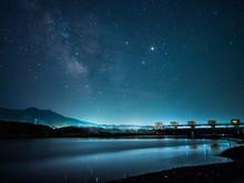 津軽石川河口と天の川