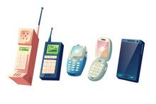 Mobile Phones Evolution Cartoo...