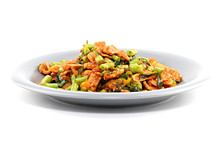 Stir Fried Chicken, Sting Bean With Red Curry Paste,thai Food