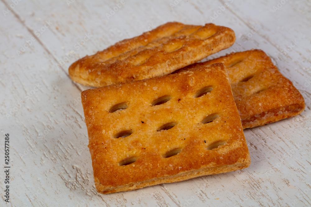 Fototapeta Appetizing salty crackers