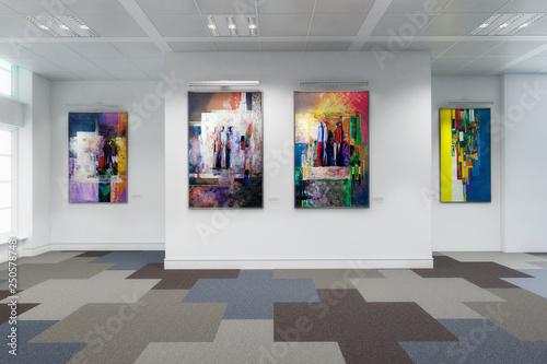 Gemäldegalerie - 3d Visualisierung Canvas Print