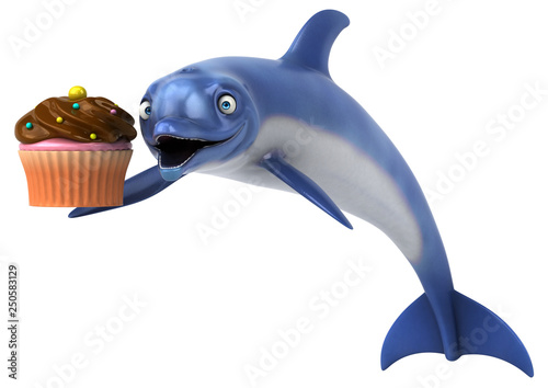 Fun Dolphin 3d Illustration Buy This Stock Illustration And