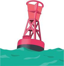 Navigation Buoy Vector Illustration