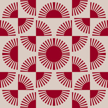 Japanese Red Fan Pattern