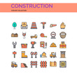 Construction Icons Set. UI Pixel Perfect Well-crafted Vector Thin Line Icons. The illustrations are a vector.