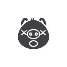 Sleeping Piggy Face Emoticon V...