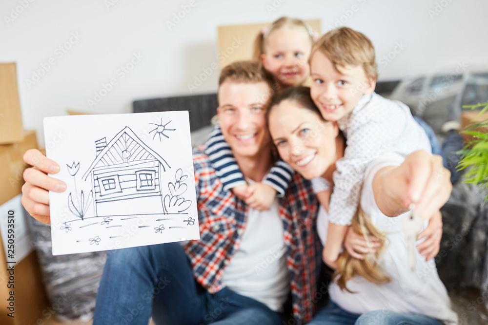 Fototapety, obrazy: Bild als Symbol für Eigenheim und Hauskauf