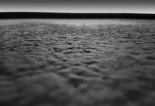 Black And White Grainy Concrete Texture Horizon Background