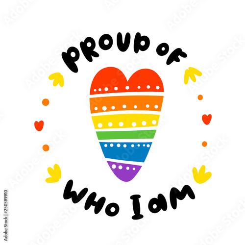 Foto  Rainbow heart, lgbt communiti symbol
