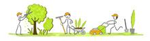 Les Jardiniers En équipe