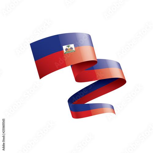 Fotografia, Obraz Haiti flag, vector illustration on a white background
