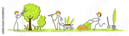 Fotografiet les jardiniers en équipe