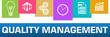 Quality Management Business Symbols Colorful On Top Horizontal