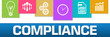 Compliance Business Symbols Colorful On Top Horizontal