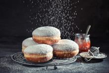 Delicious And Sweet Donuts Wit...