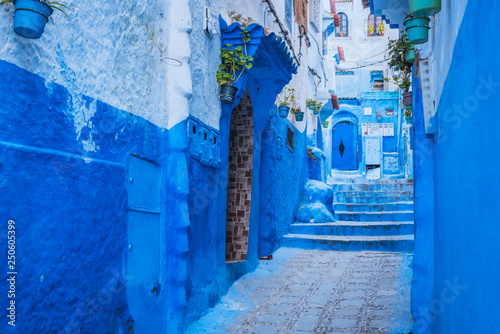 Poster Maroc Chefchaouen medina Blue city of Morocco, Africa