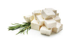Pieces Of Tasty Feta Cheese On...
