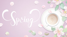 Spring Background Template Wit...