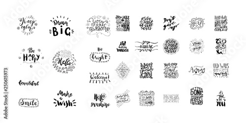 In de dag Positive Typography Lettering Bundle