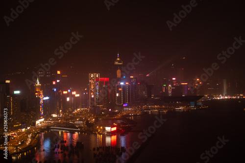 Foto op Aluminium Volle maan Hong Kong, China