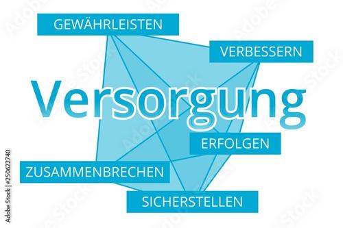 Valokuva  Versorgung - Begriffe verbinden, Farbe blau