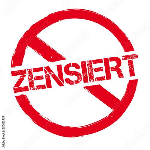 """Fotografia Roter runder Stempel ZENSIERT"""""""