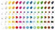 canvas print picture - Set 6 Verschiedene Pins, Nadeln, Flaggen & Magnete 15 Farben