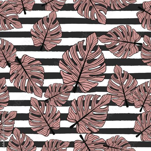 Poster Retro sign seamless botanical pattern