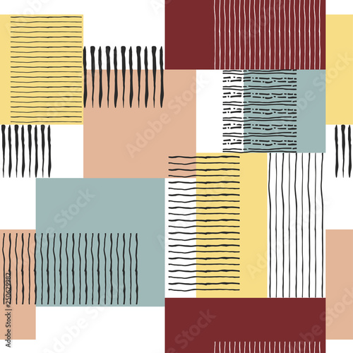 Garden Poster Retro sign seamless retro striped pattern