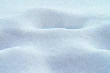 White Snow Bank Winter Background.