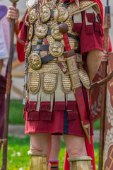 Ancient costume of a Roman soldier