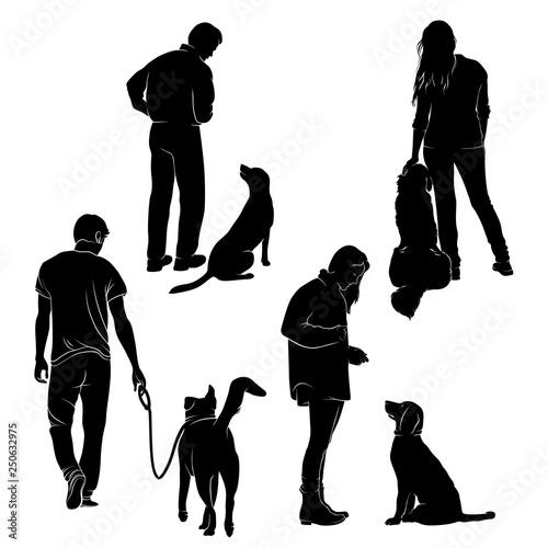 Photo  Dog Training Vector Silhouette Stock Vector