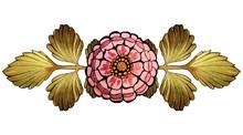 Flowers Roses. Hand Drawn Art Nouveau Illustration