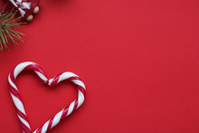 Christmas Candy Canes Heart-sh...