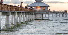 Fort Myers Pier At Sunset - Fl...