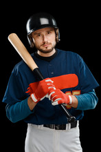 Portrait Of A Baseball Hitter
